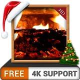acogedora chimenea HD GRATIS: decora tu sala de TV con una chimenea romántica en tu televisor 4K y dispositivos de fuego como fondo de pantalla y tema para mediación y paz