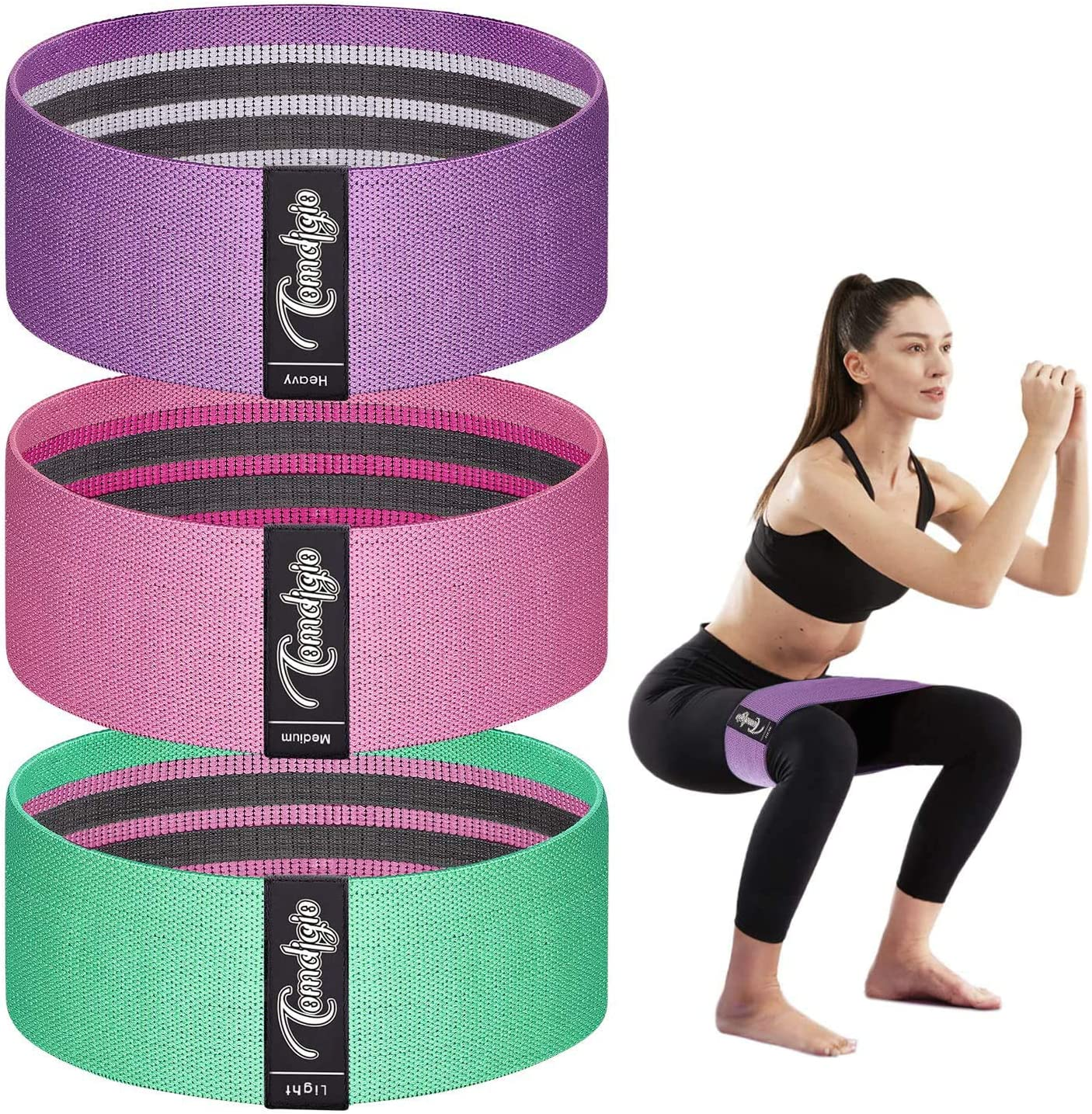 Comdigio Booty Bands for Legs Band and Oakland Mall Max 45% OFF Butt Elastic Exerc