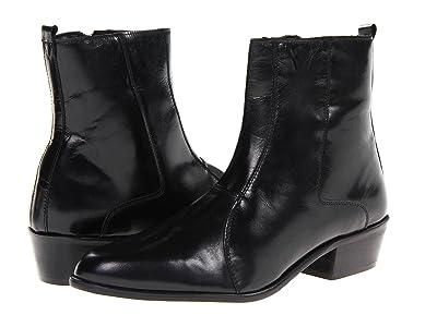 Stacy Adams Santos Plain Toe Side Zip Boot (Black Leather) Men