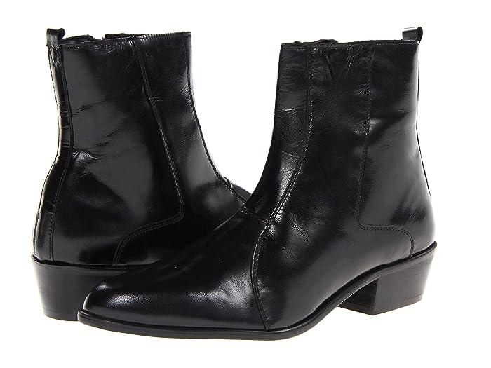 1960s -1970s Men's Clothing Stacy Adams Santos Plain Toe Side Zip Boot Black Leather Mens Shoes $78.86 AT vintagedancer.com