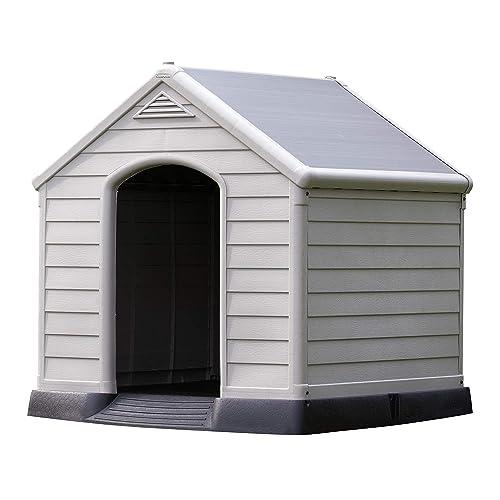 Keter - Casas de perros para jardín, Color topo / beige