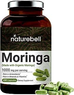 Moringa Capsules (Made with Organic Moringa Powder), 1000mg Per Serving, 200 Counts, Strong Antioxidant to Repair, Protect...