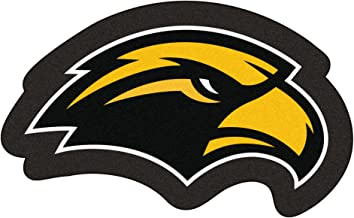 NCAA University of Southern Mississippi Southern Miss Golden Eagles Mascot Novelty Logo Shaped Area Rug