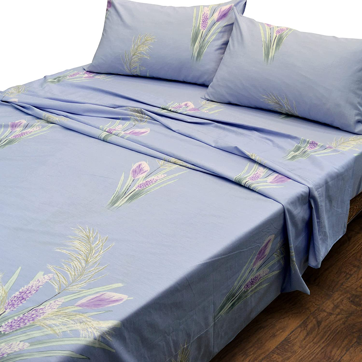 Jacksonville Mall Essina Queen Bed Sheet Set All stores are sold 4pc 620 Collection Pictorial Cotton