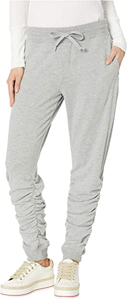 Ruched Hem Brushed Jersey Jogger