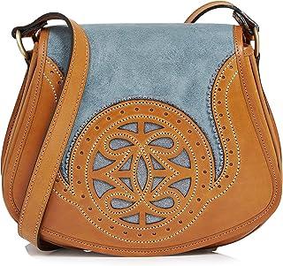 Penelope Chilvers Castanet Suede Crossbody Womens Messenger Bag