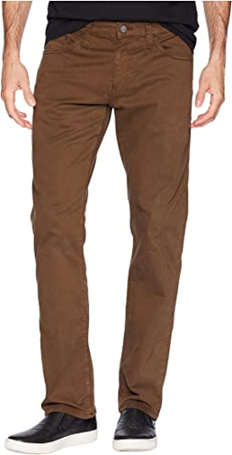 Zach Mid-Rise Straight Leg in Brown Twill