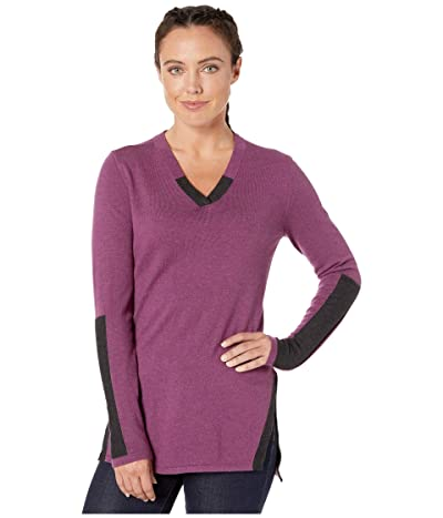 Smartwool Shadow Pine Tunic Sweater (Sangria Heather) Women