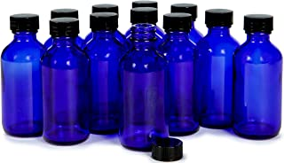 Vivaplex, 12, Cobalt Blue, 2 oz Glass Bottles, with Lids