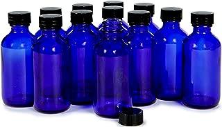 Vivaplex, 12, Cobalt Blue, 2 oz Glass Bottles, with Lids