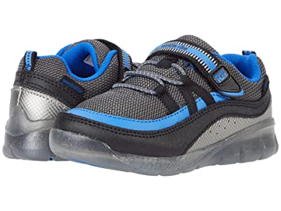 Stride Rite M2P Lighted Burst (Toddler) (Black/Blue) Boys Shoes