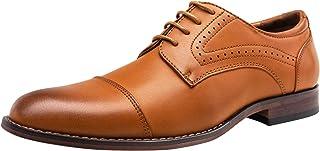 VOSTEY Men's Dress Shoes Classic Brogue Oxfords Formal Dress Shoes for Men