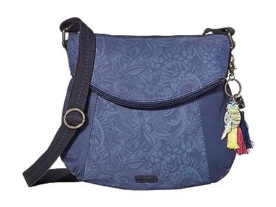 Sakroots Artist Circle Foldover Crossbody (Indigo Spirit Desert) Cross Body Handbags