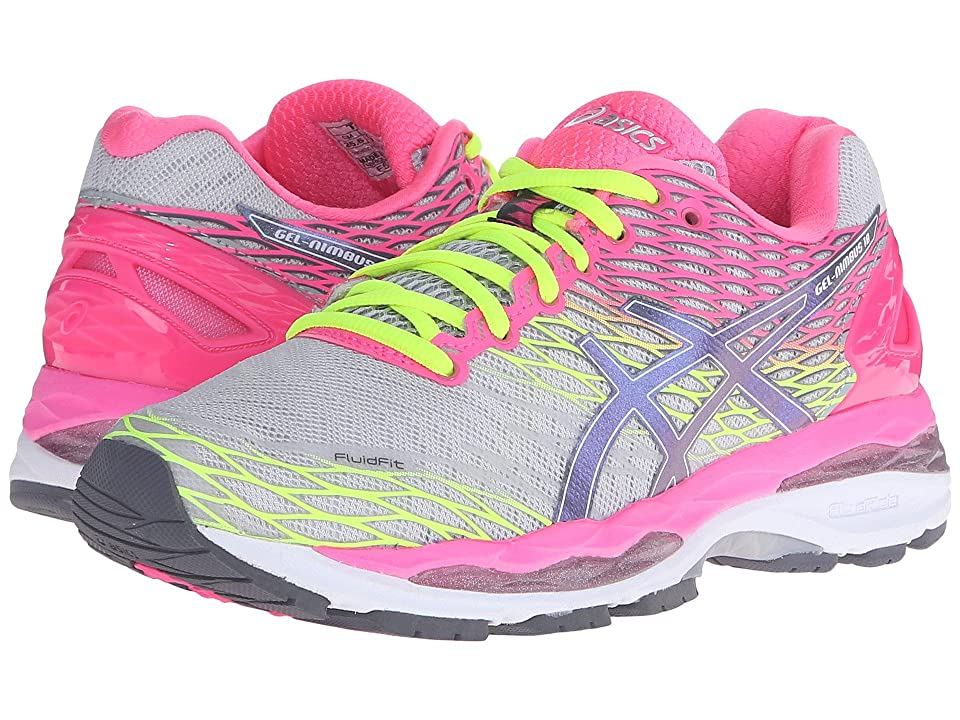 ASICS Gel-Nimbus(r) 18 (Silver/Titanium/Hot Pink) Women