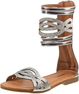 5ac8e0573e0 Kensie Girl Fashion Gladiator Sandals with Shiny Glitter Straps (Little  Kid Big Kid)
