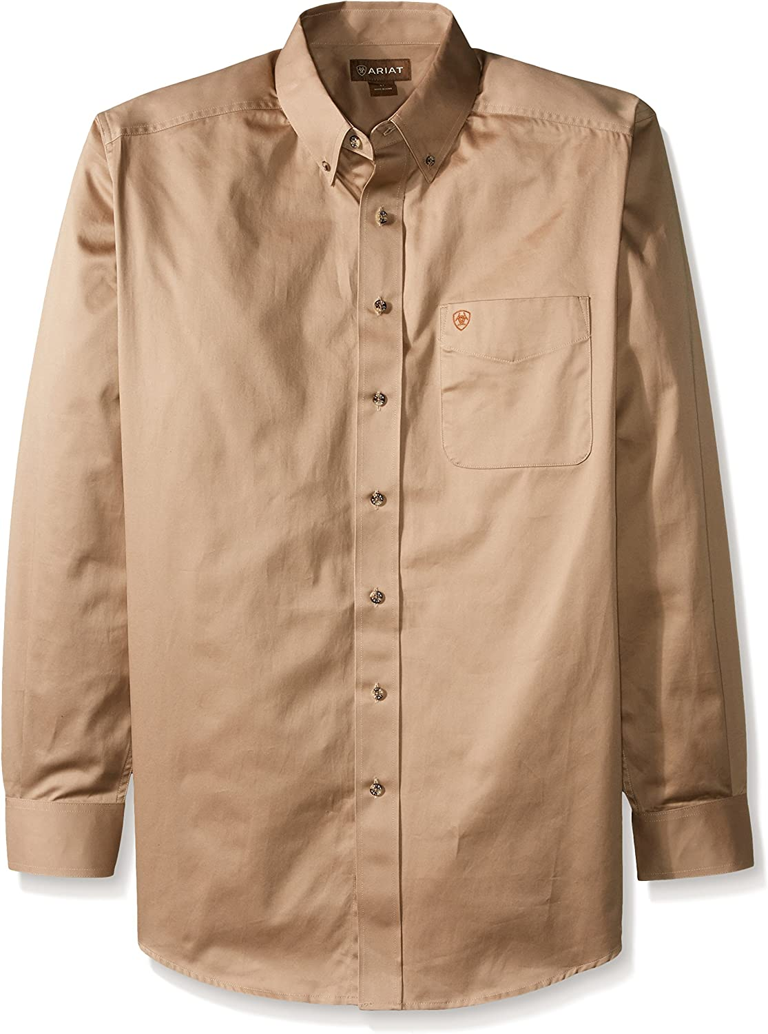 ARIAT Men's SEAL limited Opening large release sale product Solid Twill Shirt