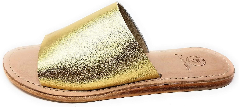 NYLA PREMIUM Laguna Leather Slide Sandal