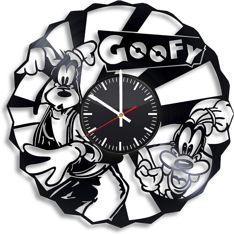 Goofy Vinyl Elegant Wall Clock Popularity Design Any for Gift Occasion