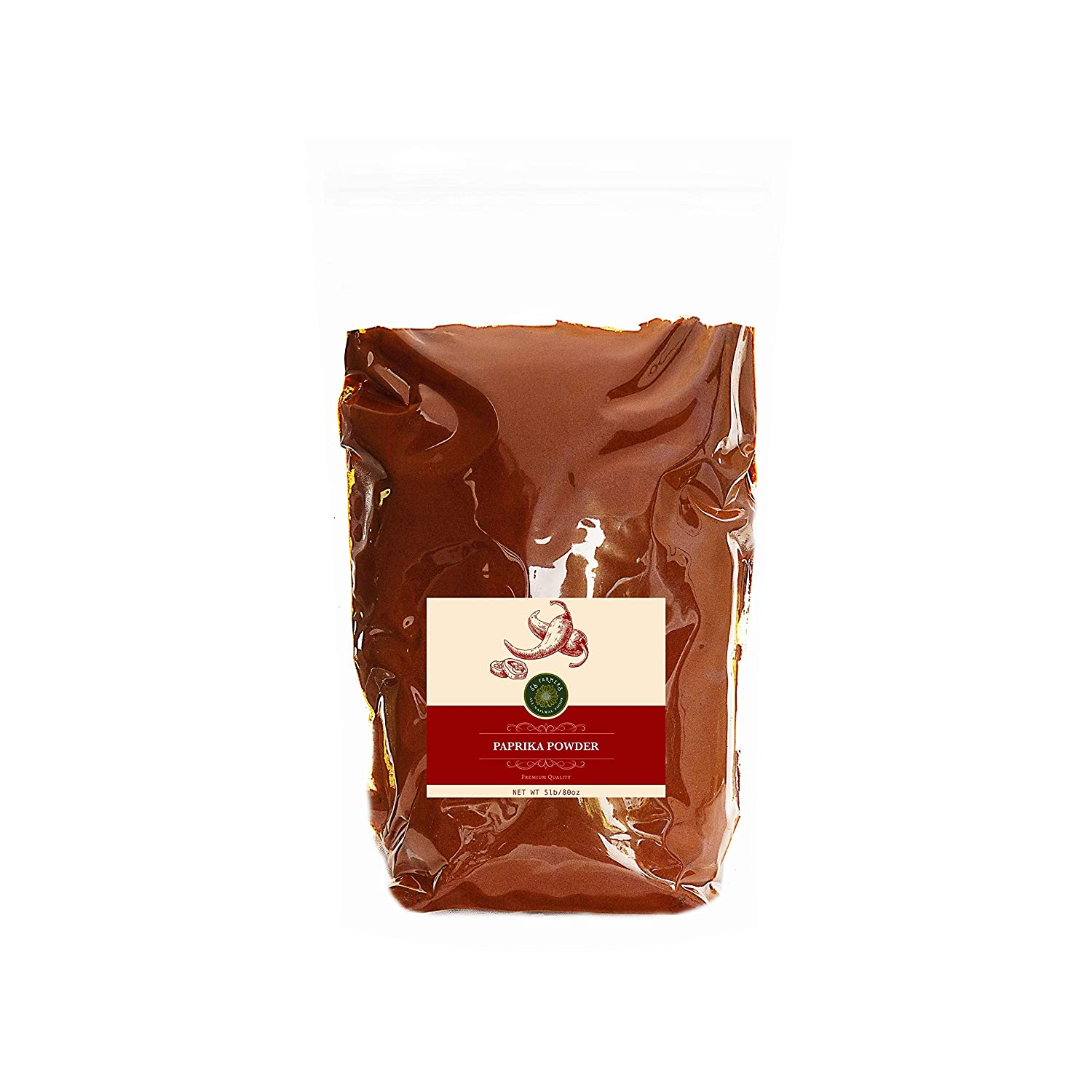 US-FARMERS Natural Premium Quality Resealable Paprika Max 49% OFF wholesale in Powder