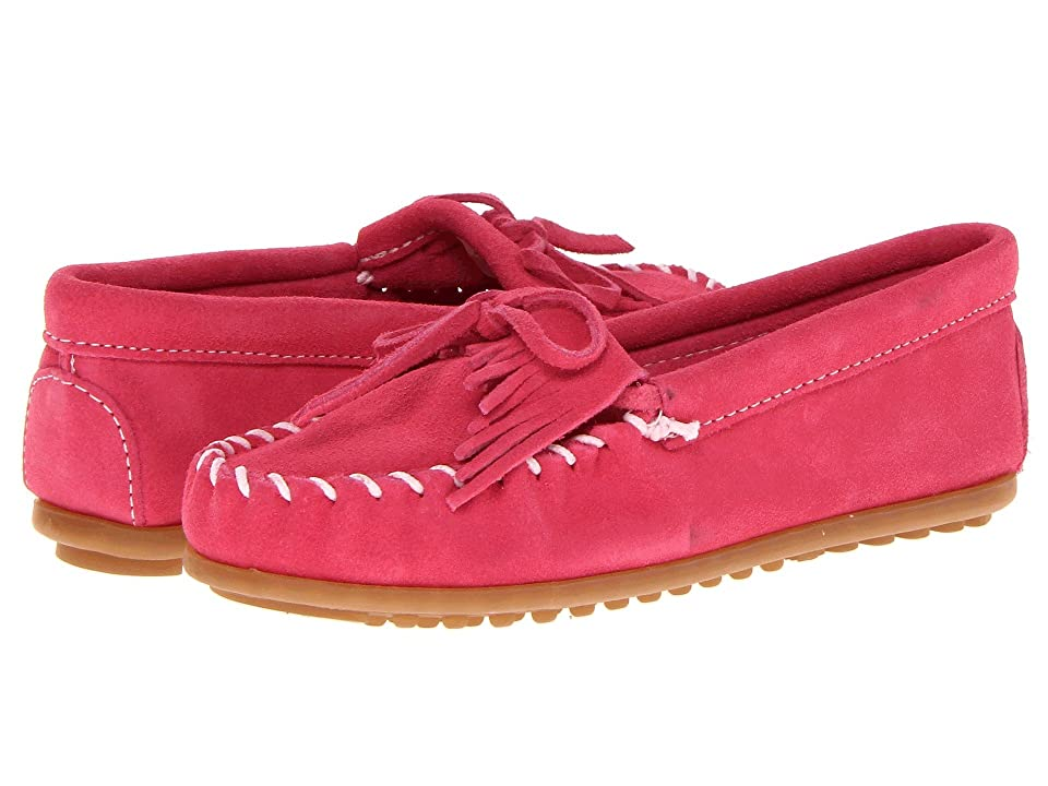 Minnetonka Kids Kilty Suede Moc (Toddler/Little Kid/Big Kid) (Hot Pink Suede) Kids Shoes