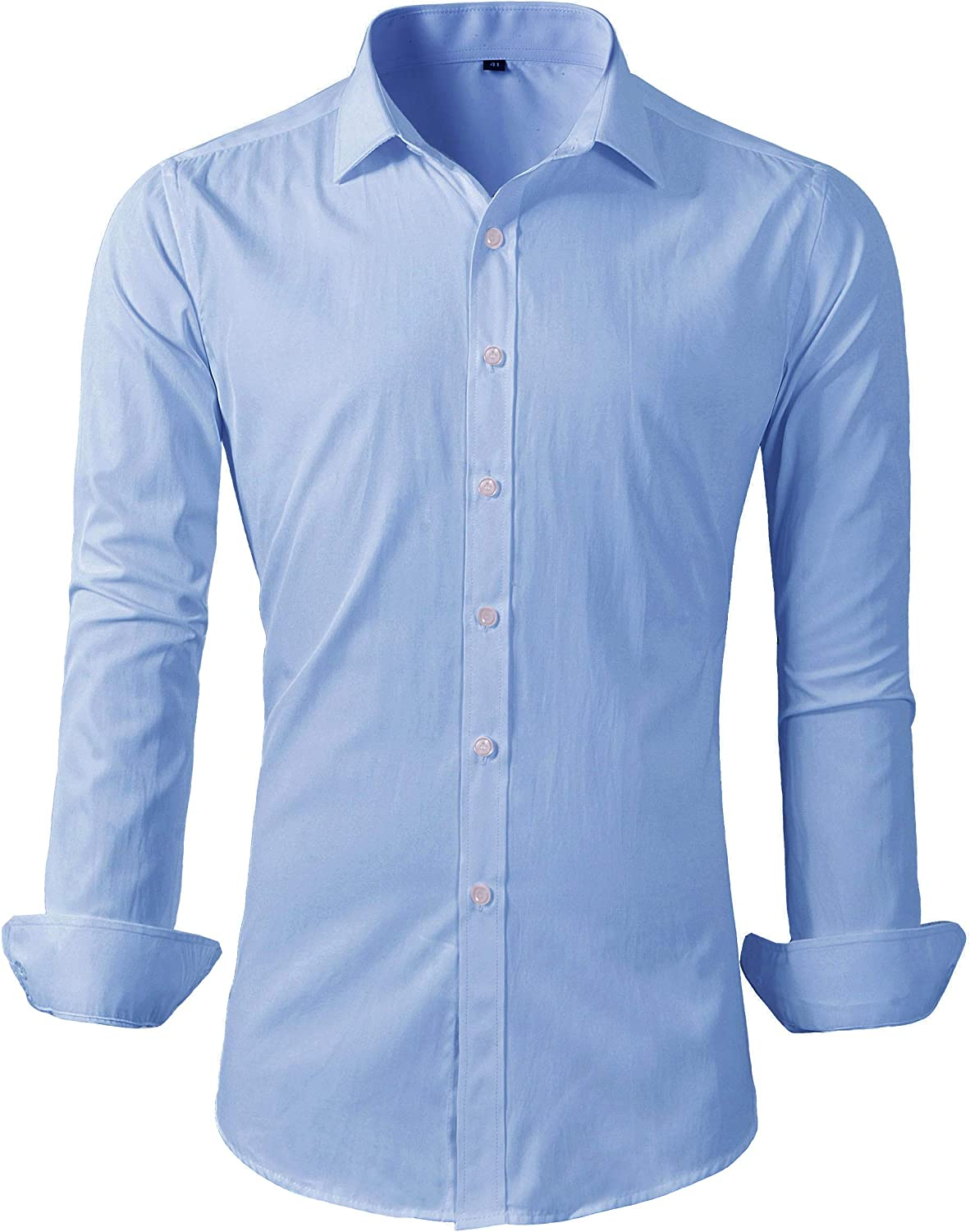 Men/'s Western style Double Breasted Shirt Long sleeve Slim Fit Blouses Casual B