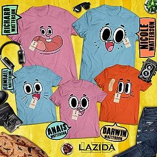 LAZIDA Watterson Family Face Costume Matching Family Halloween Emoji Group Outfit Costume T-Shirt | Hoodie | Tank Top | Sweatshirt | Long Sleeve