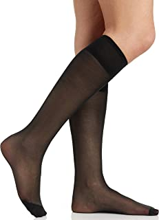 Women's All Day Knee High Pantyhose with Reinforced Toe 6355