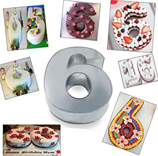 Large Number Six Birthday/Wedding Anniversary Cake Tins/Pans/Mould 14