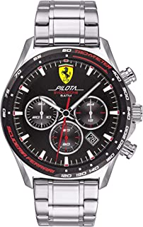 Scuderia Ferrari MEN'S BLACK DIAL STAINLESS STEEL WATCH - 830714 0830714