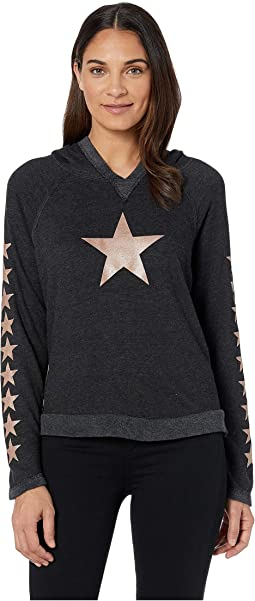 Black/Rose Gold Stars