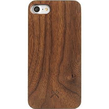 Woodcessories - Hülle kompatibel mit iPhone SE (2020) / 8/7 aus Echtholz - EcoCase Classic (Walnuss/Schwarz)