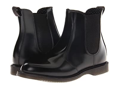 Dr. Martens Flora Chelsea Boot (Black Polished Smooth) Women