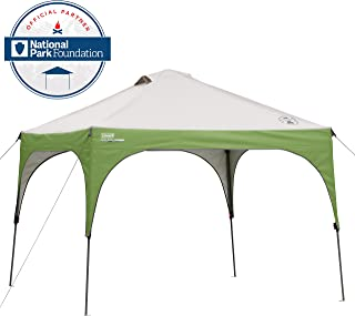 Coleman 10 x 10 Canopy Tent with Instant Setup | Sun Shelter Sets Up in 3 Minutes