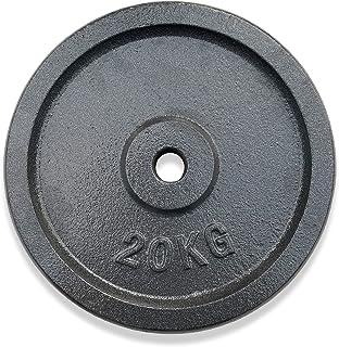 KVK FITNESS   40 kg hantelskivsset – 2 x 20 kg av gjutjärn – 30/31 mm vikter för korta och skivstångsstänger – DE återförs...