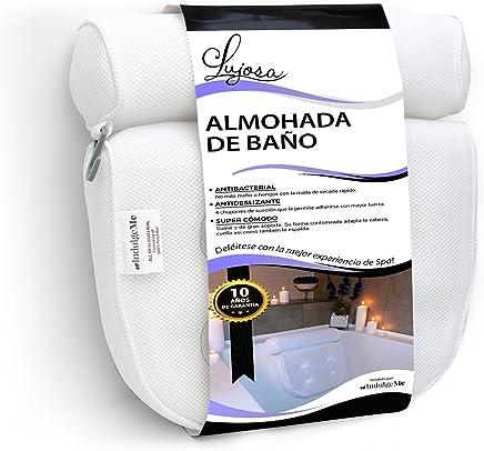 Lujosa almohada de baño Extra Grande con ventosas con excelente agarre. No más Moho Gracias