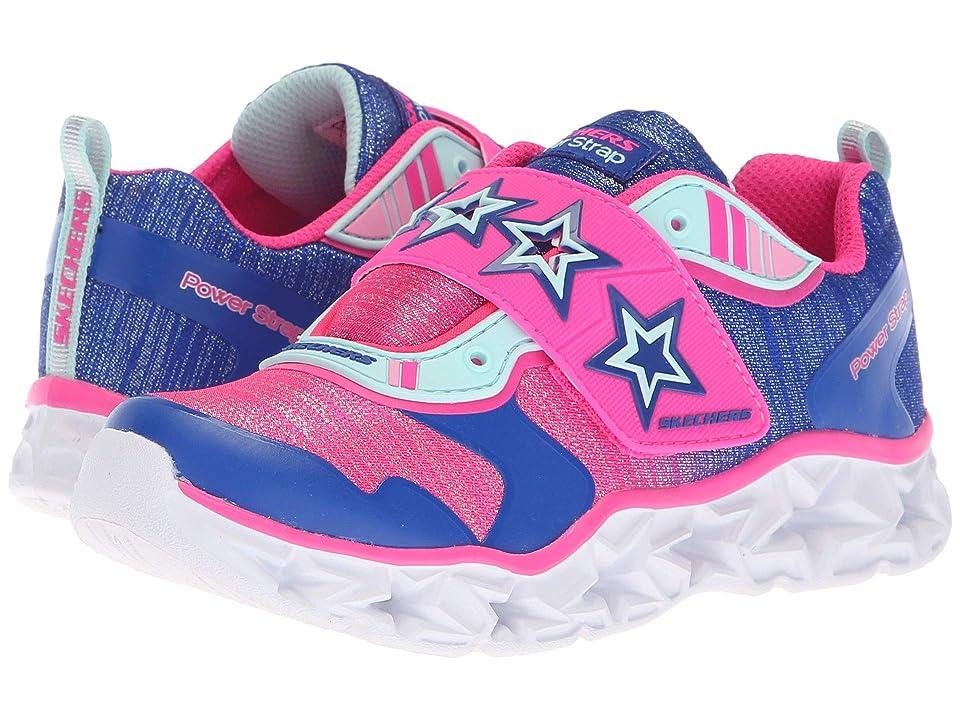 SKECHERS KIDS Galaxy Lights Cosmic Kick 10955L (Little Kid/Big Kid) (Blue/Neon Pink) Girl