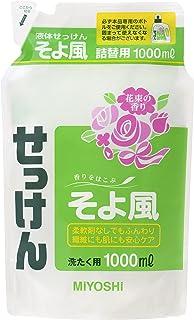 Miyoshi Liquid Detergent Soyokaze Refill, 1000 Milliliter