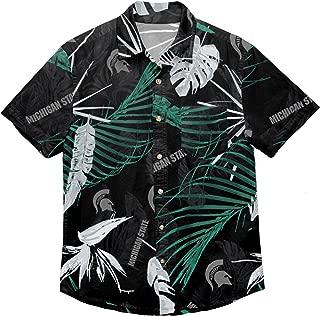 NCAA Mens Neon Palm Tropical Button Up Shirt