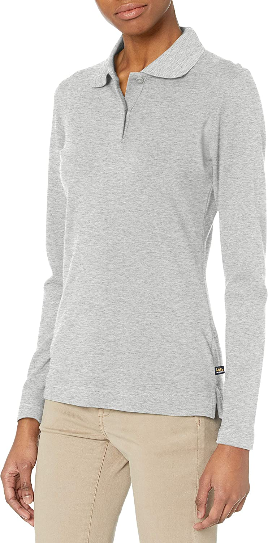Lee Womens Long Sleeve Stretch Pique Polo Shirt