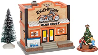 Department 56 Harley Davidson Village Clubhouse Lit House Box Set
