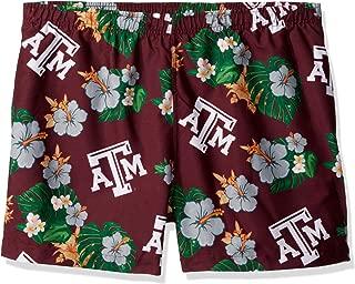 FOCO NCAA Texas A&M Aggies Mens Big Wordmark Swim Suit TrunksBig Wordmark Swim Suit Trunks, Team Color, Large
