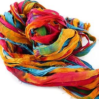 Bachaaya   Freedom Yarn - Rainbow   Rajasthani Strip Yarn   for Knitting, Crocheting, Weaving   225 Feet (75 Yards), 150 Grams (5.3 Ounces)
