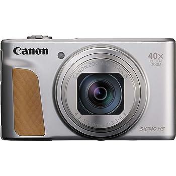 Canon コンパクトデジタルカメラ PowerShot SX740 HS シルバー 光学40倍ズーム/4K動画/Wi-Fi対応 PSSX740HSSL