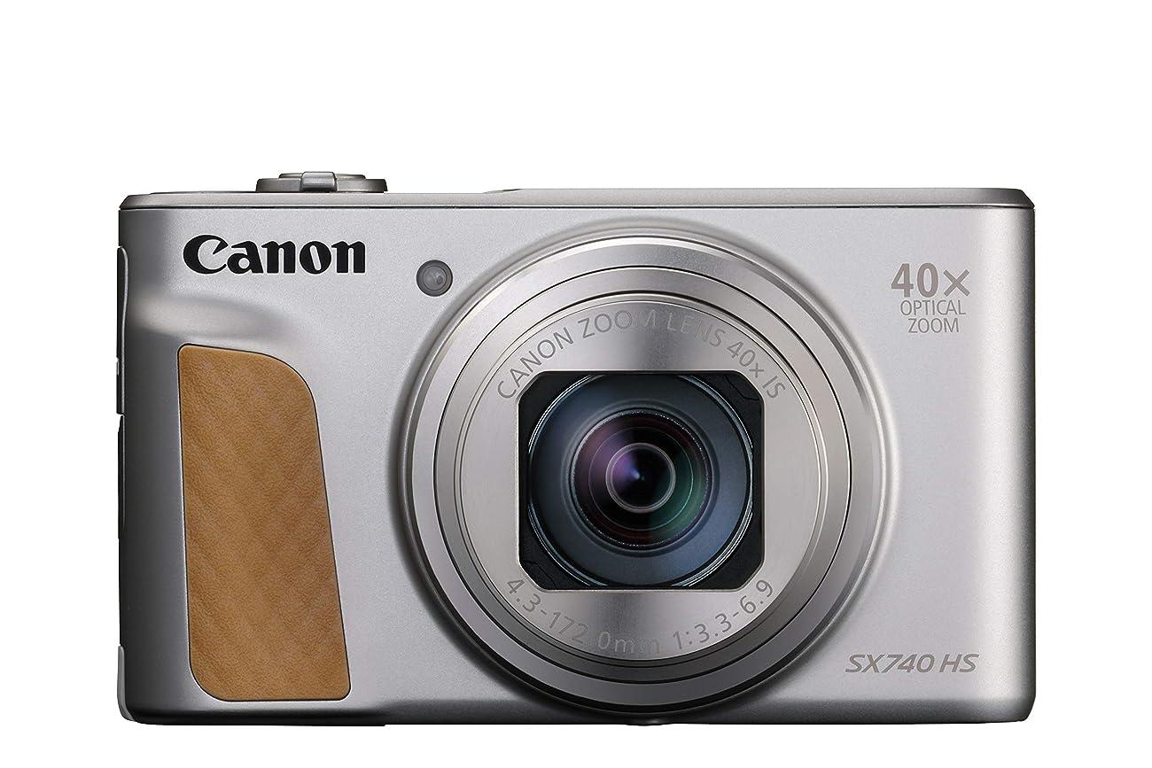 取り消す変わるぴったりCanon デジタルカメラ PowerShot SX740 HS シルバー 110.1×63.8×39.9mm 光学40倍ズーム 4K動画対応 PSSX740HS(SL)