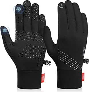PULIOU Winter Gloves Men Women Warm Touch Screen Gloves Windproof Cold Weather Gloves for Running Cycling Driving Hiking