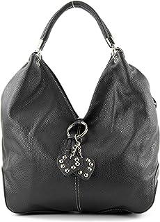 modamoda de 330 - ital Handtasche Shopper Schultertasche Leder