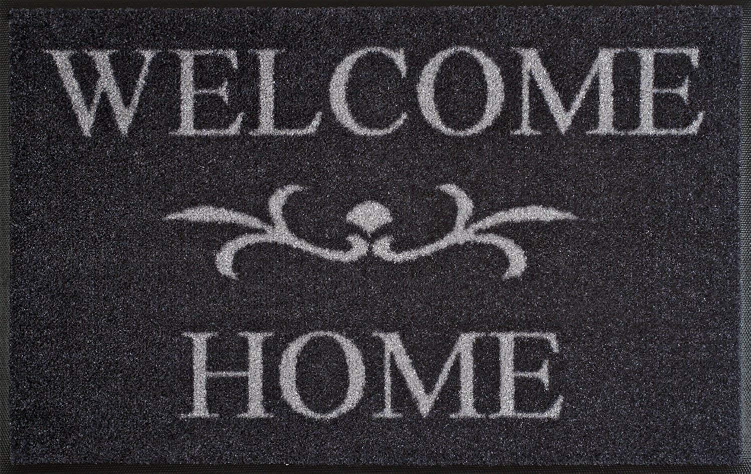 Wash+Dry M38542D 004752 Door Mat 50 x 75 cm with Welcome Home Text Charcoal by wash+dry