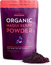 SB Organics Maqui Berry Powder - 4 oz Bag of Organic Wild Freeze-Dried Whole Maqui Powder from Chile - Not From Concentrate