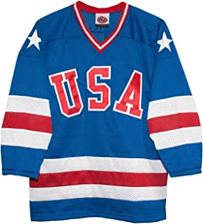 USA 1980 Olympic Miracle on Ice Away Blue Hockey Jersey (Adult Sizes)
