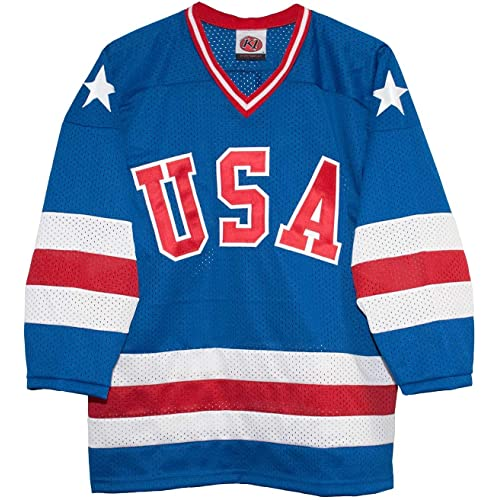 559230192 USA 1980 Olympic Miracle on Ice Away Blue Hockey Jersey (Adult Sizes)